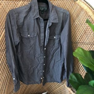Roots chambray button shirt